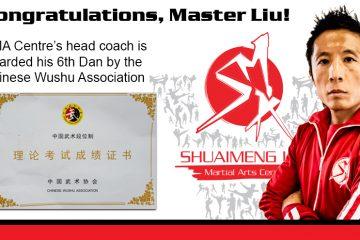 Congratulations, Master Liu!